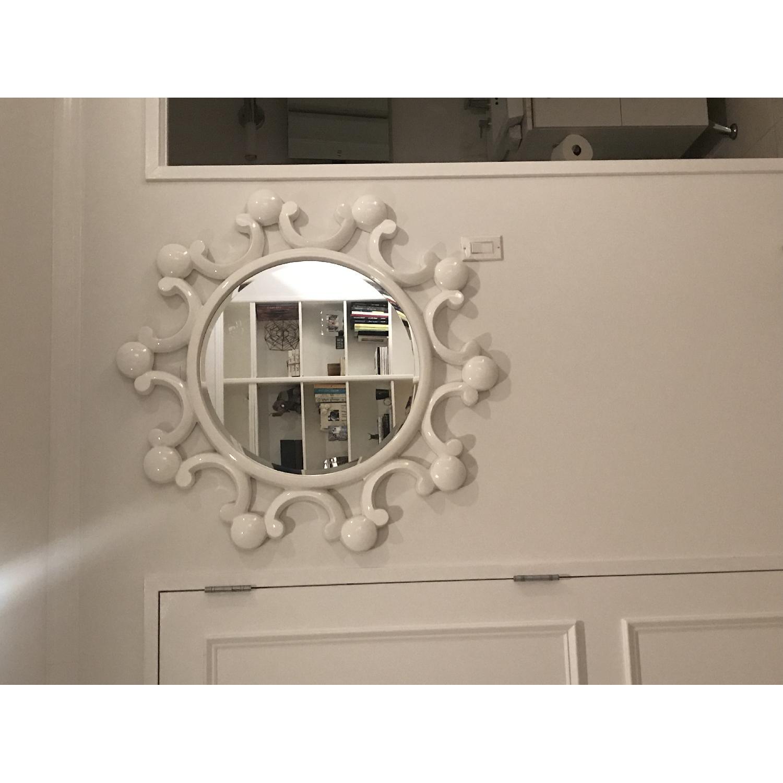 White Bubble Flower Mirror - image-1