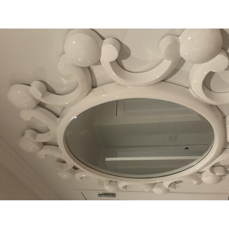 White Bubble Flower Mirror - image-4