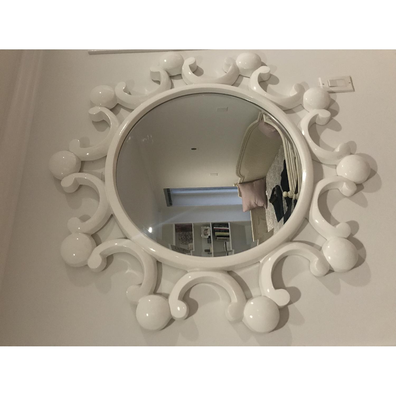 White Bubble Flower Mirror - image-5