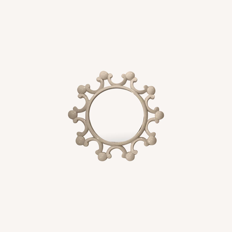 White Bubble Flower Mirror - image-0