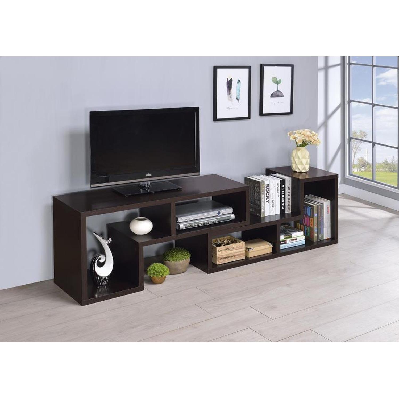 Cappuccino TV Console w/ Flexible Configuration - image-10