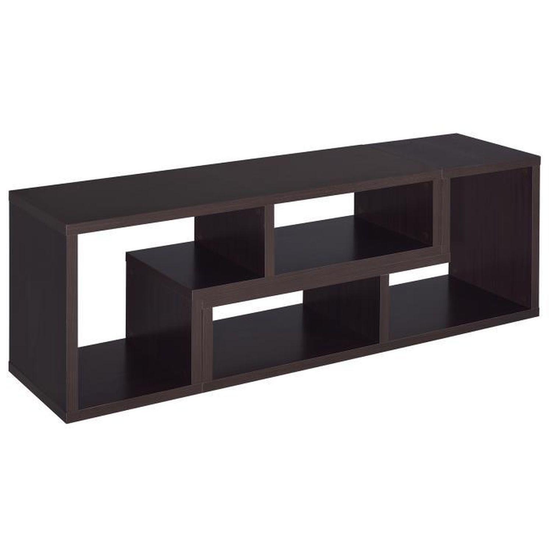 Cappuccino TV Console w/ Flexible Configuration - image-0