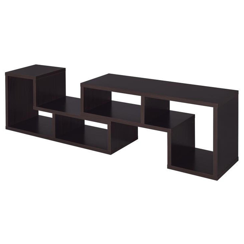 Cappuccino TV Console w/ Flexible Configuration - image-7