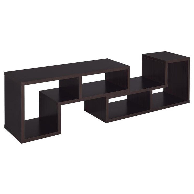 Cappuccino TV Console w/ Flexible Configuration - image-6