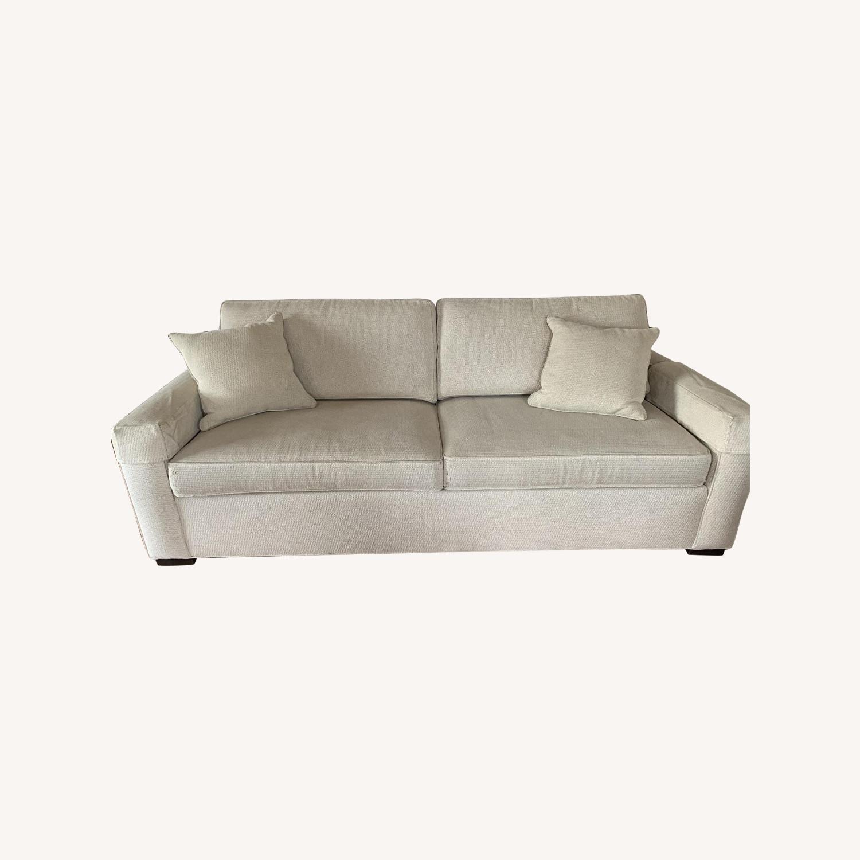 Ethan Allen Hudson Tan Sleeper Sofa - image-0