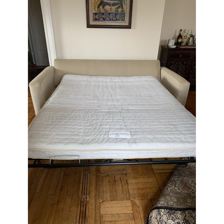 Ethan Allen Hudson Tan Sleeper Sofa - image-1