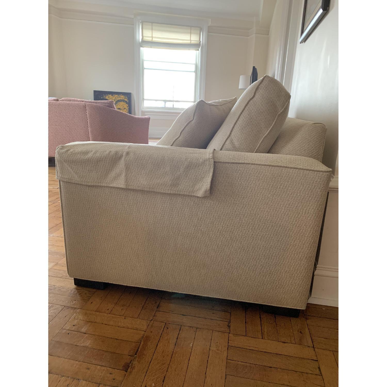 Ethan Allen Hudson Tan Sleeper Sofa