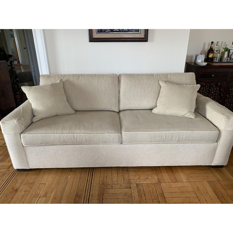 Ethan Allen Hudson Tan Sleeper Sofa - image-2