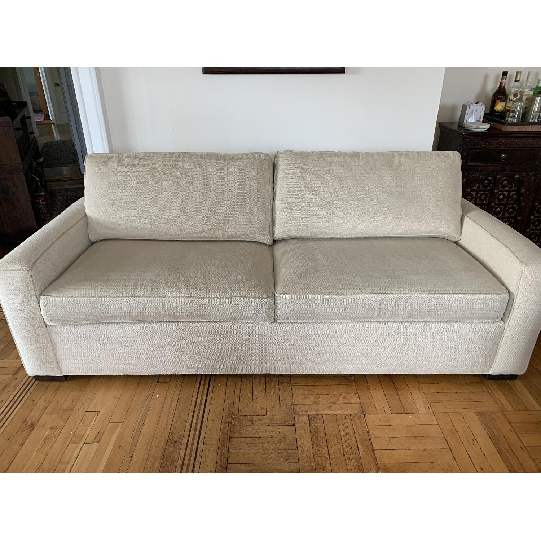 Ethan Allen Hudson Tan Sleeper Sofa - image-6