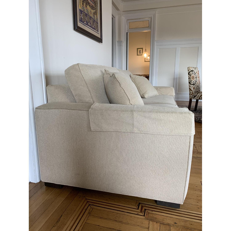 Ethan Allen Hudson Tan Sleeper Sofa - image-7