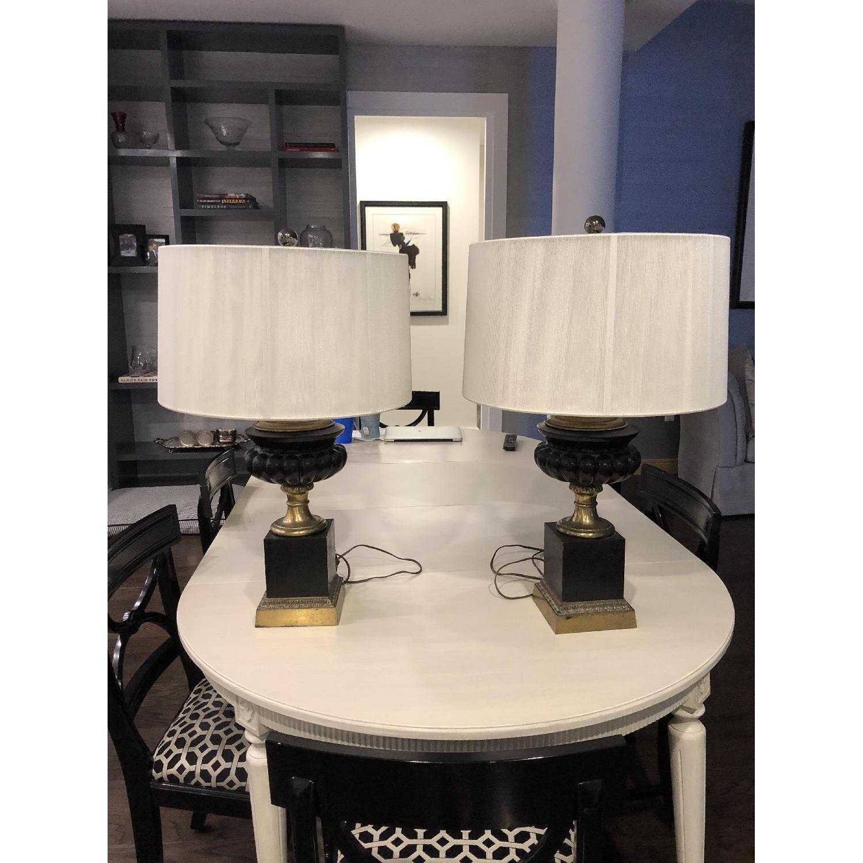 Neo-Classic Iron Urn lamps - image-1