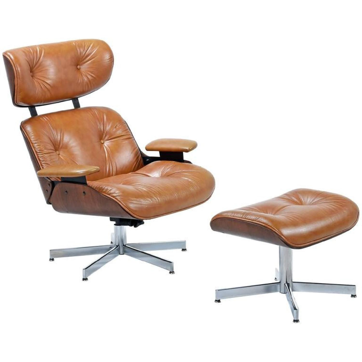 Plycraft Eames-Style Lounge Chair & Ottoman - image-0