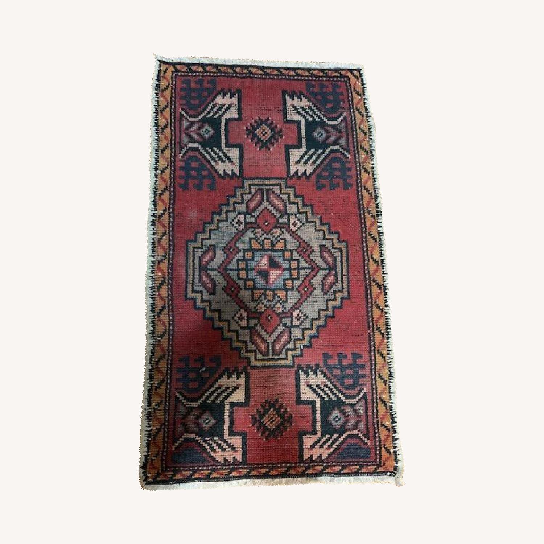 Vintage Turkish Wool Rug - image-0
