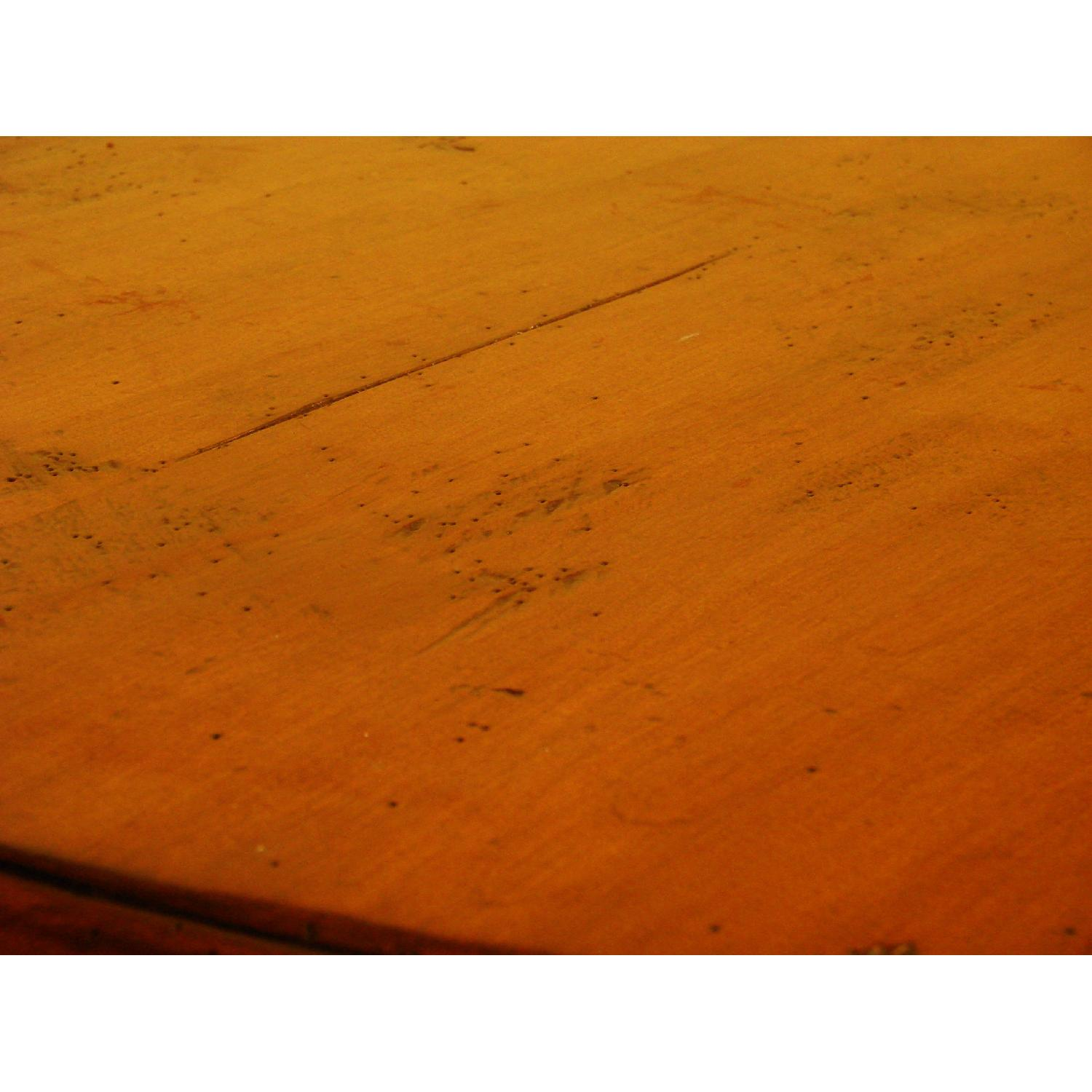 Distressed Wood Round Dining Table - image-3