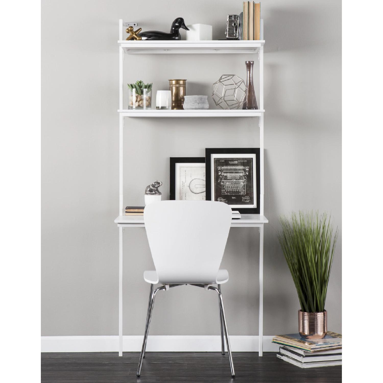 Holly & Martin Haeloen Wall Mount Desk in White - image-1