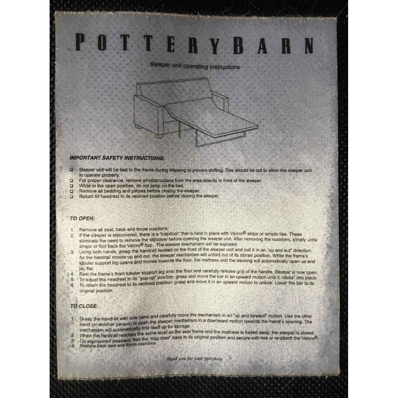 Pottery Barn Comfort Upholstered Sleeper Sofa - image-11