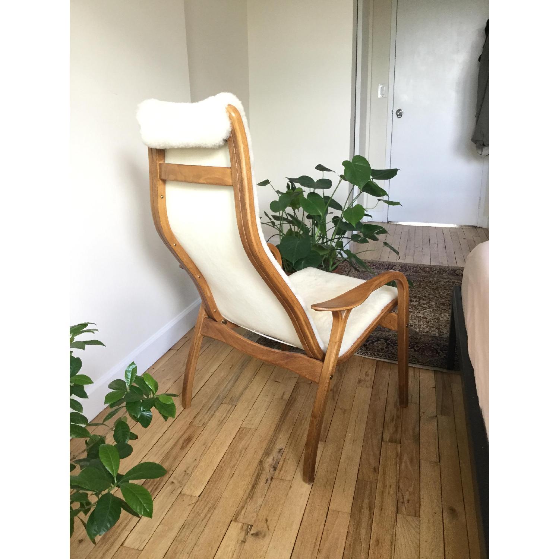 Teak & Sherpa Mid Century Chair - image-2