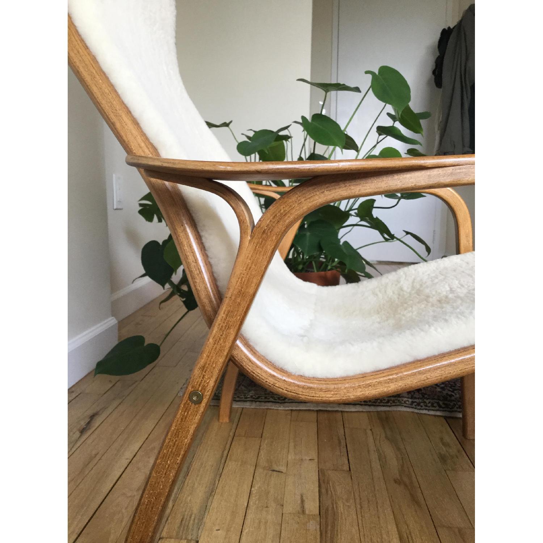 Teak & Sherpa Mid Century Chair - image-4