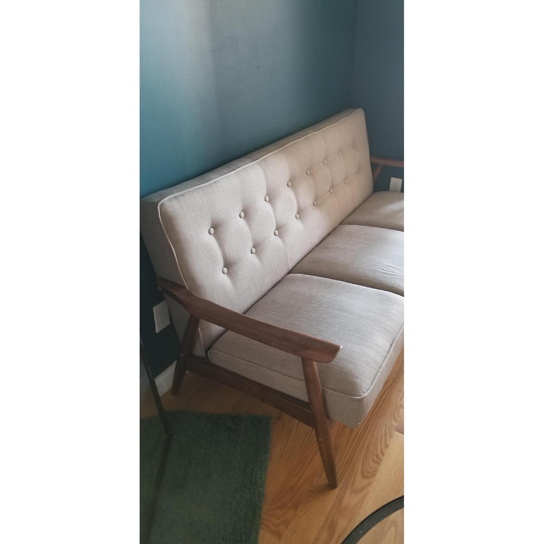 Zuo Mod Grey Mid Century Modern Sofa - image-2