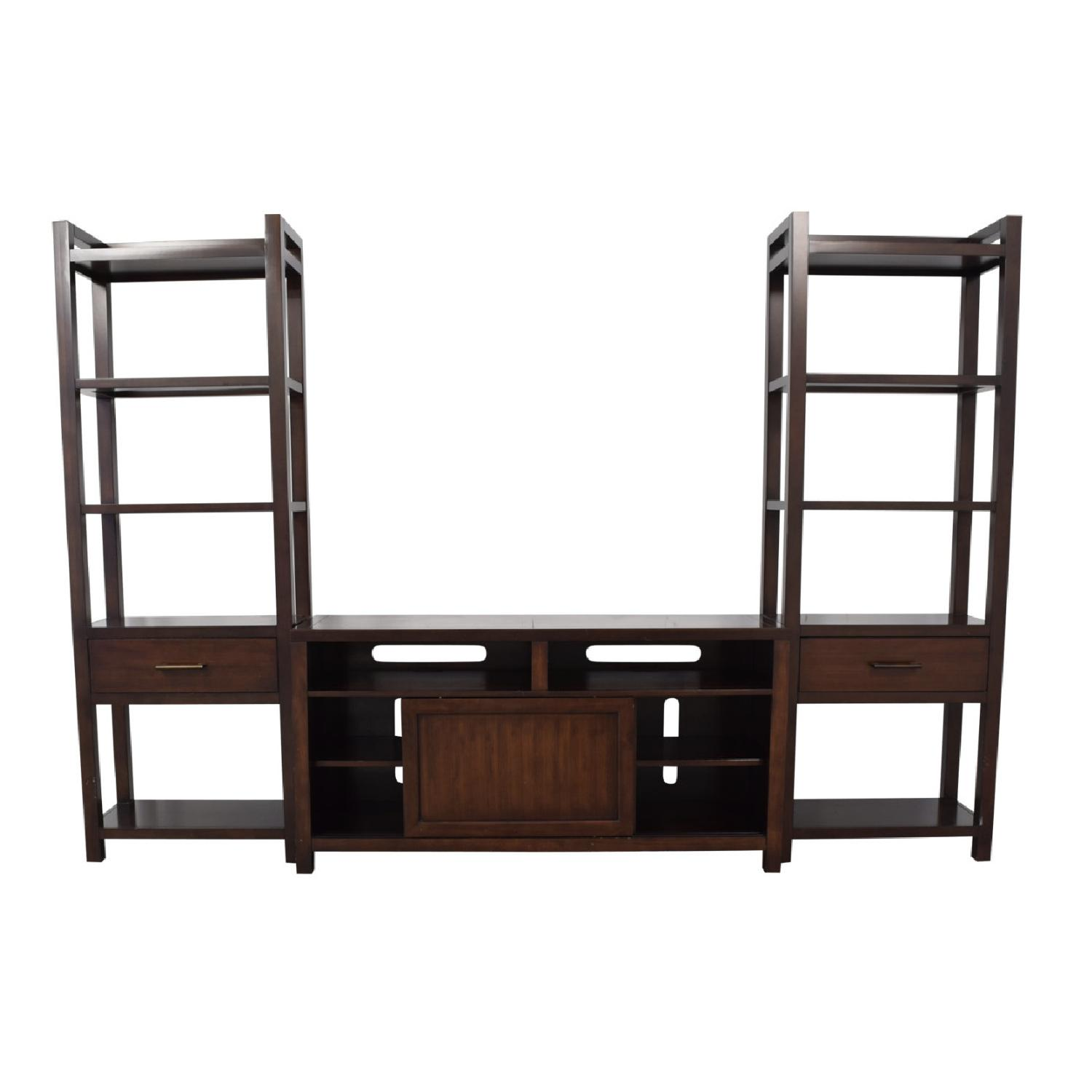 Crate & Barrel Media Console w/ 2 Media Towers - image-2