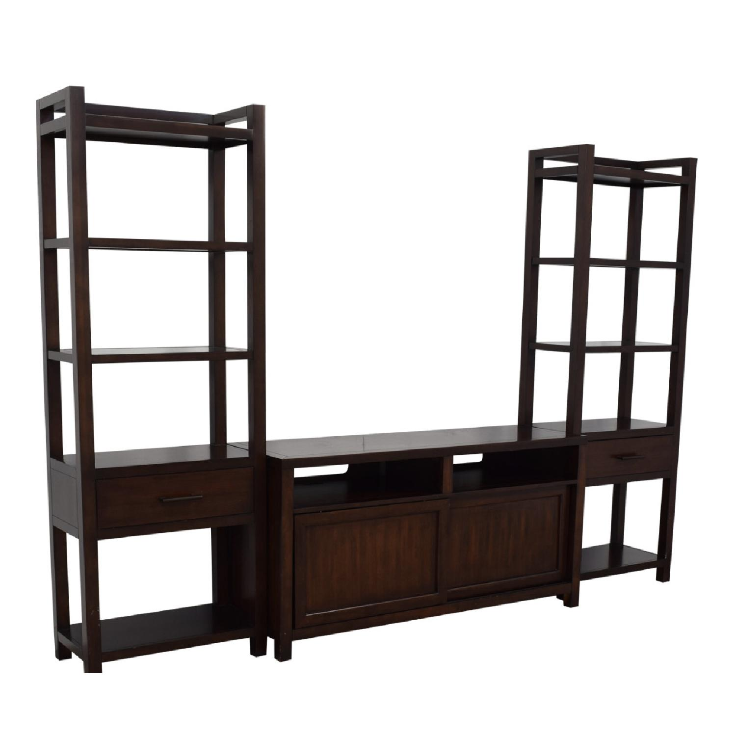 Crate & Barrel Media Console w/ 2 Media Towers - image-3