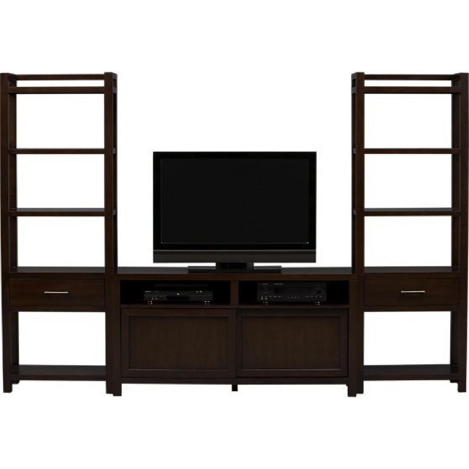 Crate & Barrel Media Console w/ 2 Media Towers - image-4