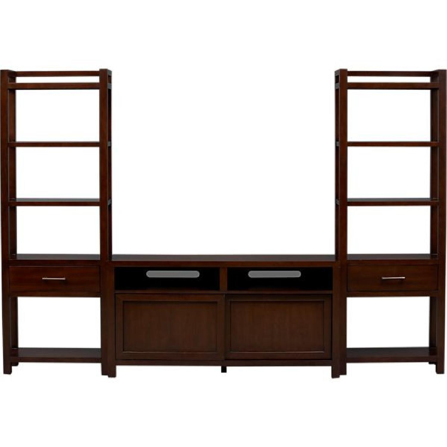 Crate & Barrel Media Console w/ 2 Media Towers - image-0