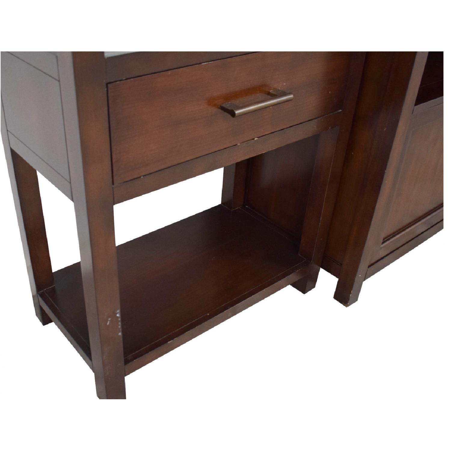 Crate & Barrel Media Console w/ 2 Media Towers - image-5