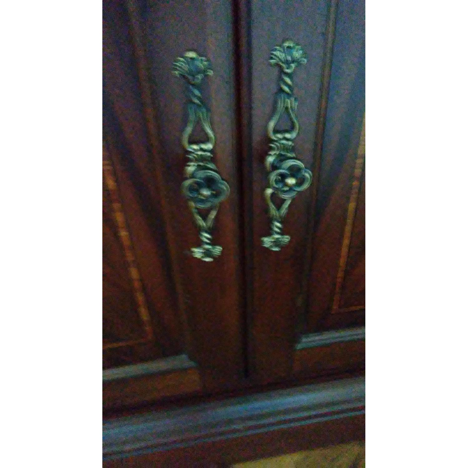 Lighted Wood & Glass China Cabinet - image-1