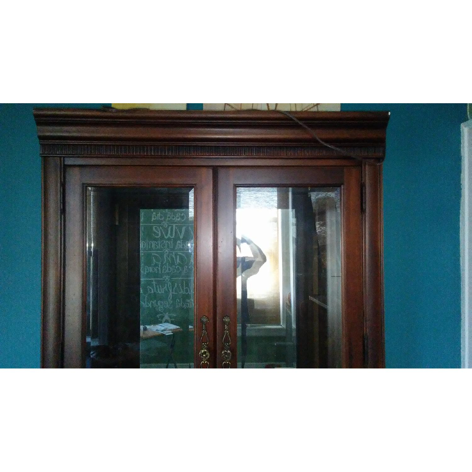 Lighted Wood & Glass China Cabinet - image-7