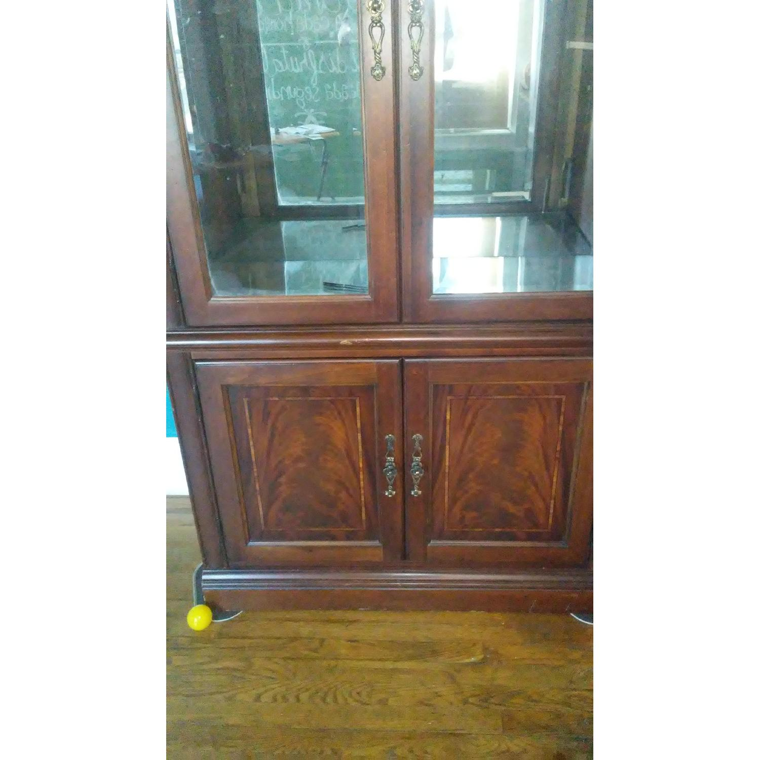 Lighted Wood & Glass China Cabinet - image-8