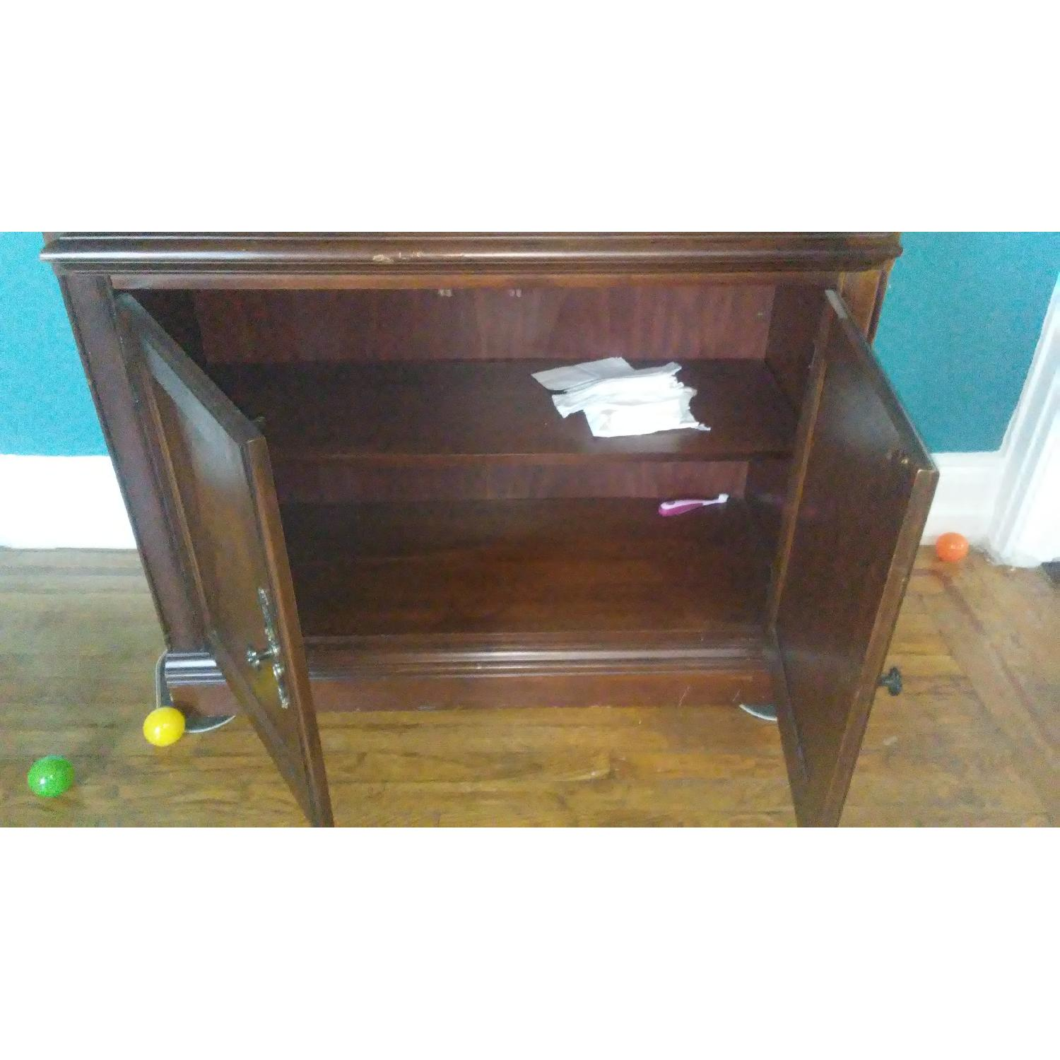 Lighted Wood & Glass China Cabinet - image-9