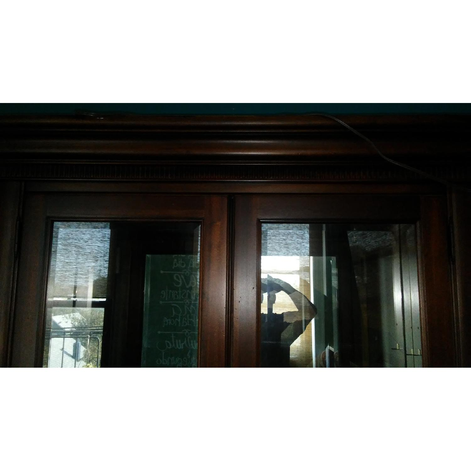 Lighted Wood & Glass China Cabinet - image-11