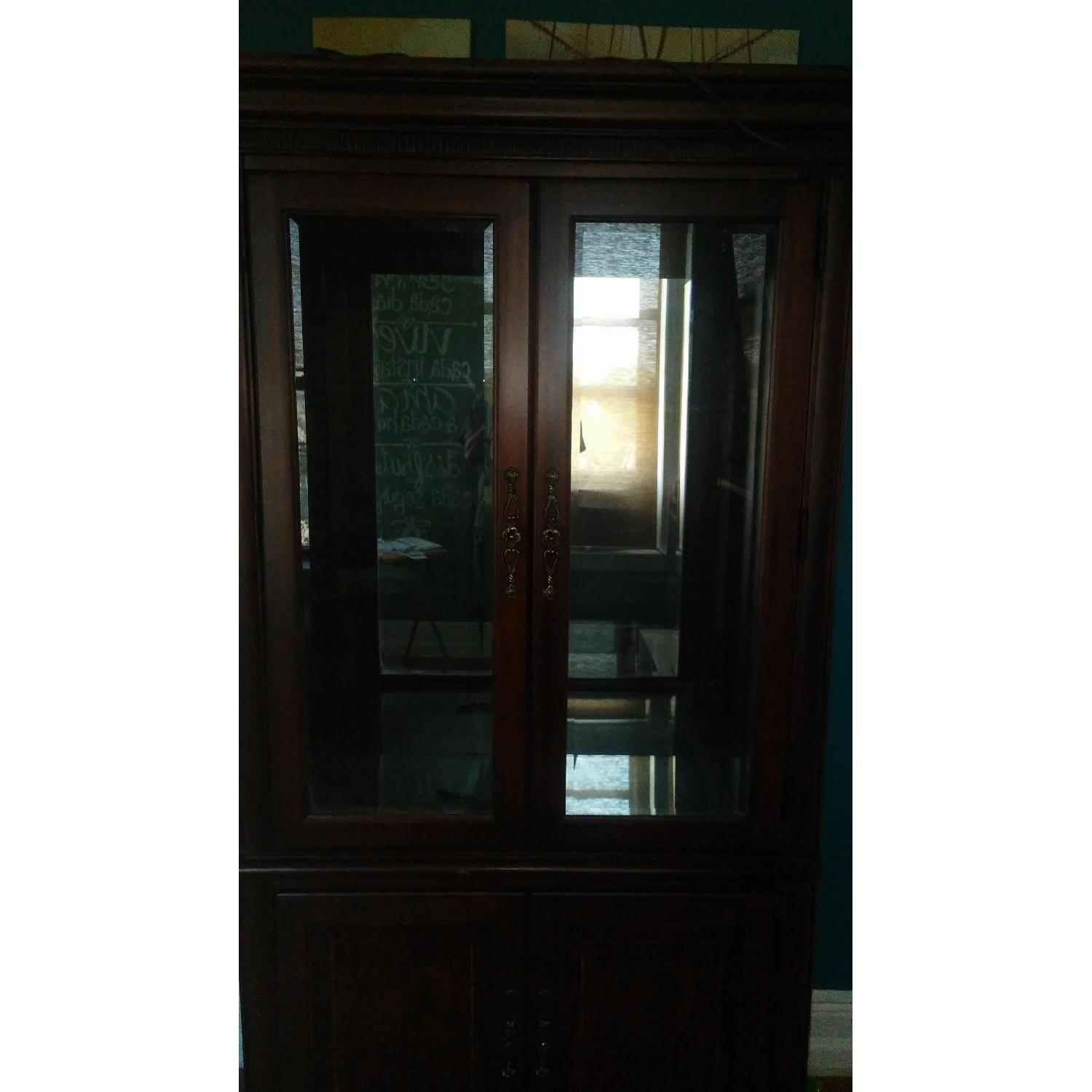 Lighted Wood & Glass China Cabinet - image-14