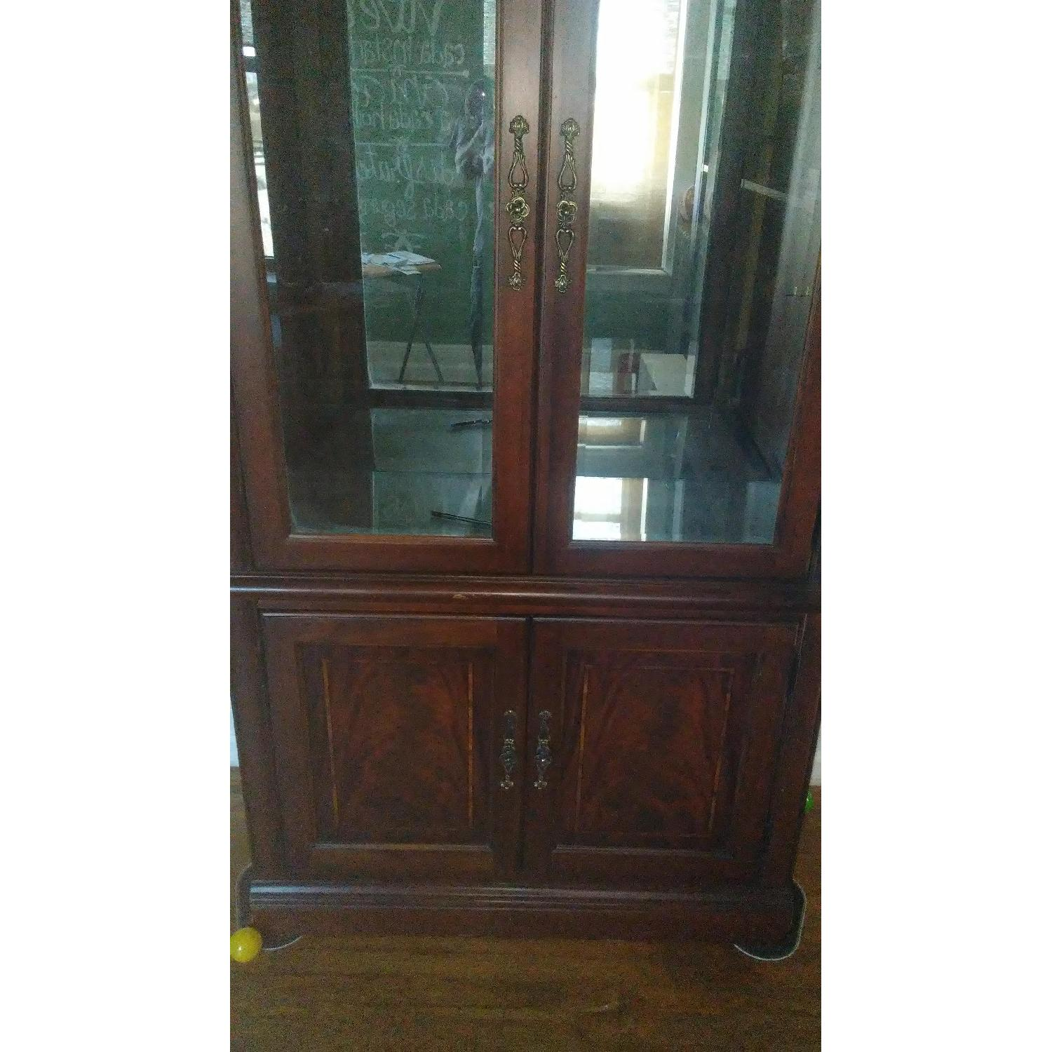 Lighted Wood & Glass China Cabinet - image-16