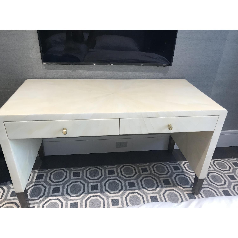 Made Goods Ivory Faux Horn Desk - image-1