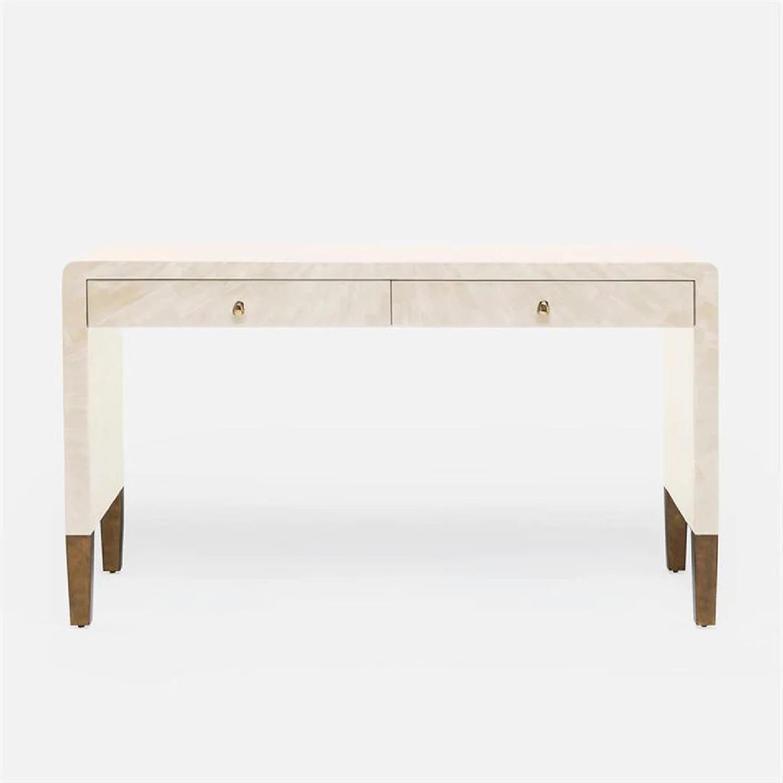 Made Goods Ivory Faux Horn Desk - image-10
