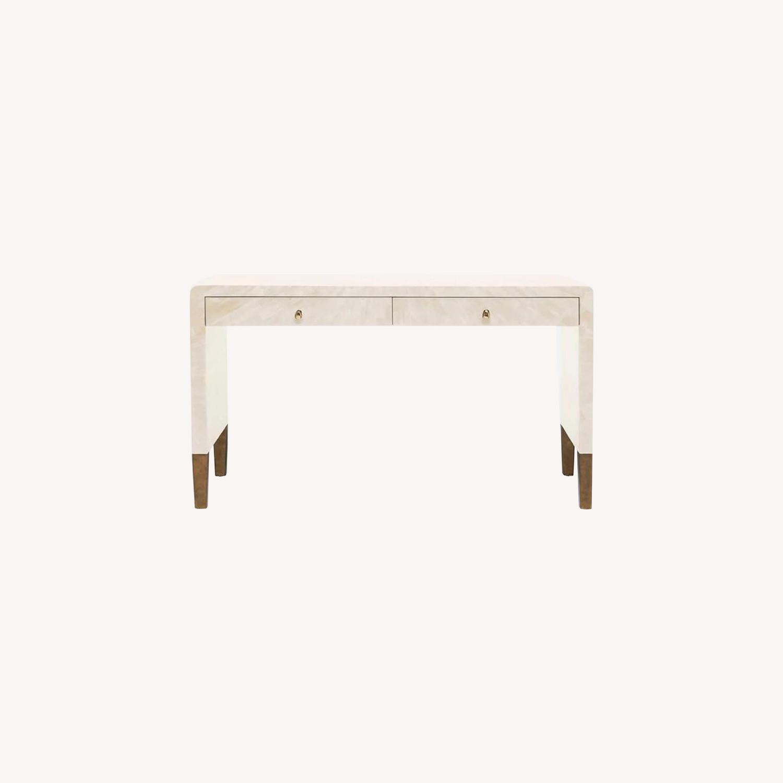 Made Goods Ivory Faux Horn Desk - image-0