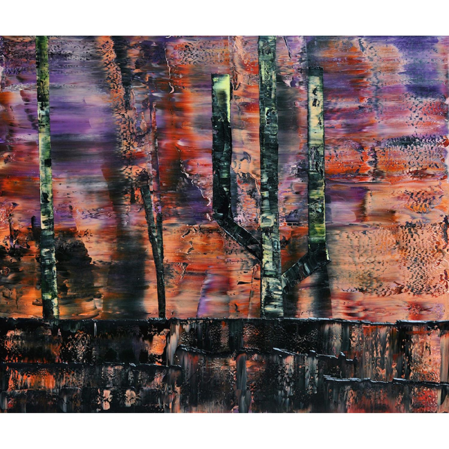 Abstract Landscape Oil Painting - image-0
