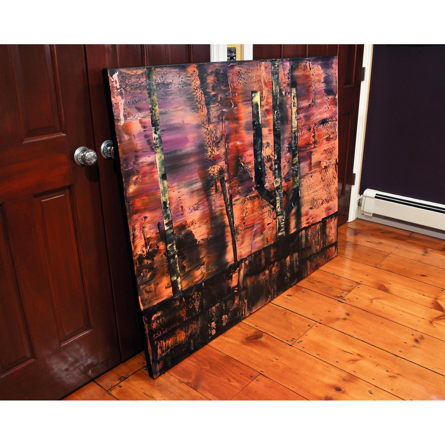 Abstract Landscape Oil Painting - image-1