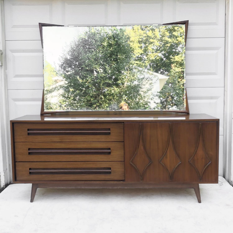Mid-Century Modern Dresser w/ Mirror - image-6