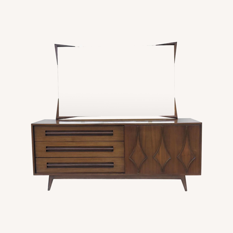 Mid-Century Modern Dresser w/ Mirror - image-0