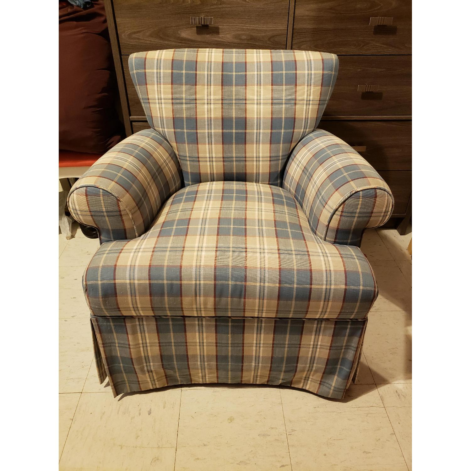 Plaid Accent Chair - image-1