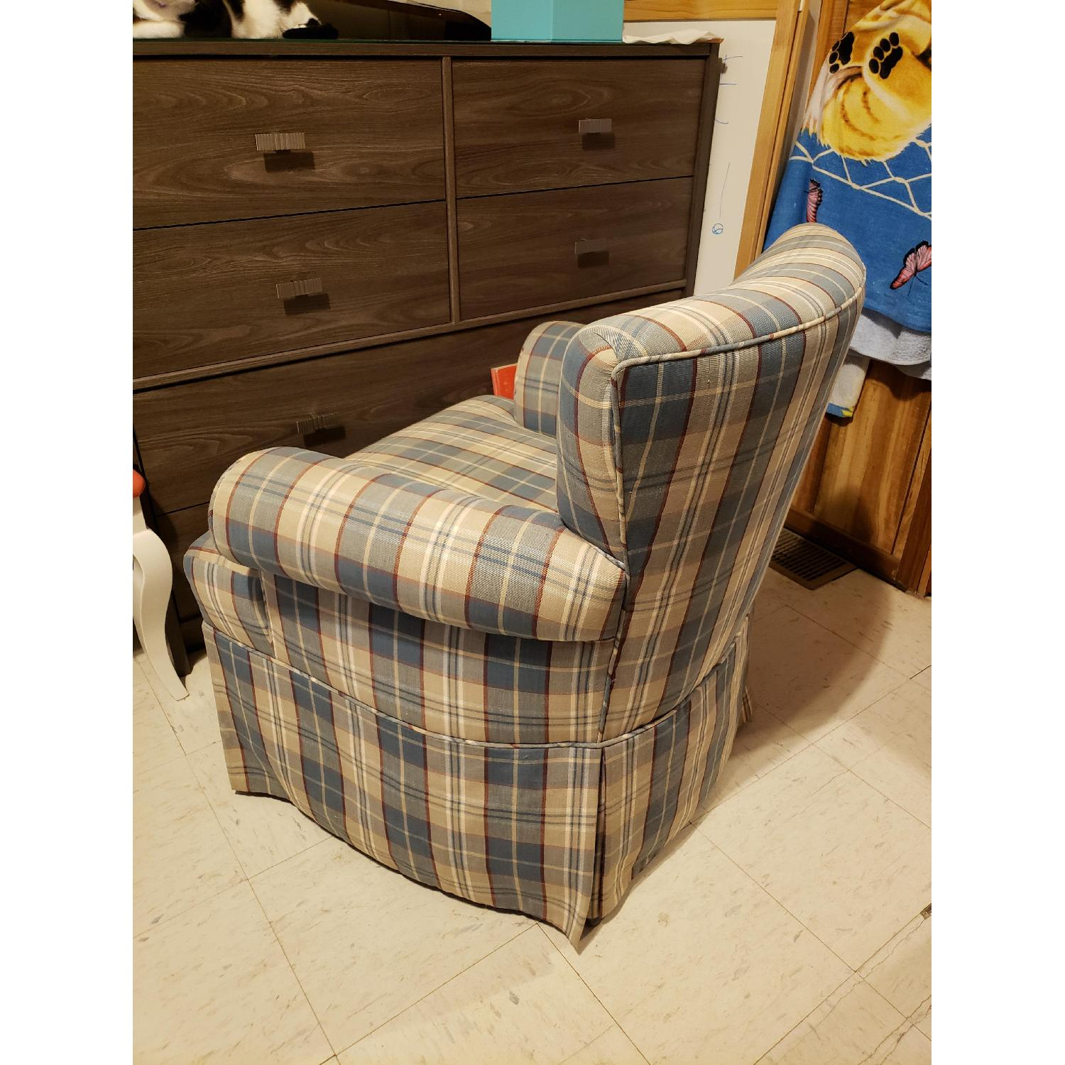 Plaid Accent Chair - image-2