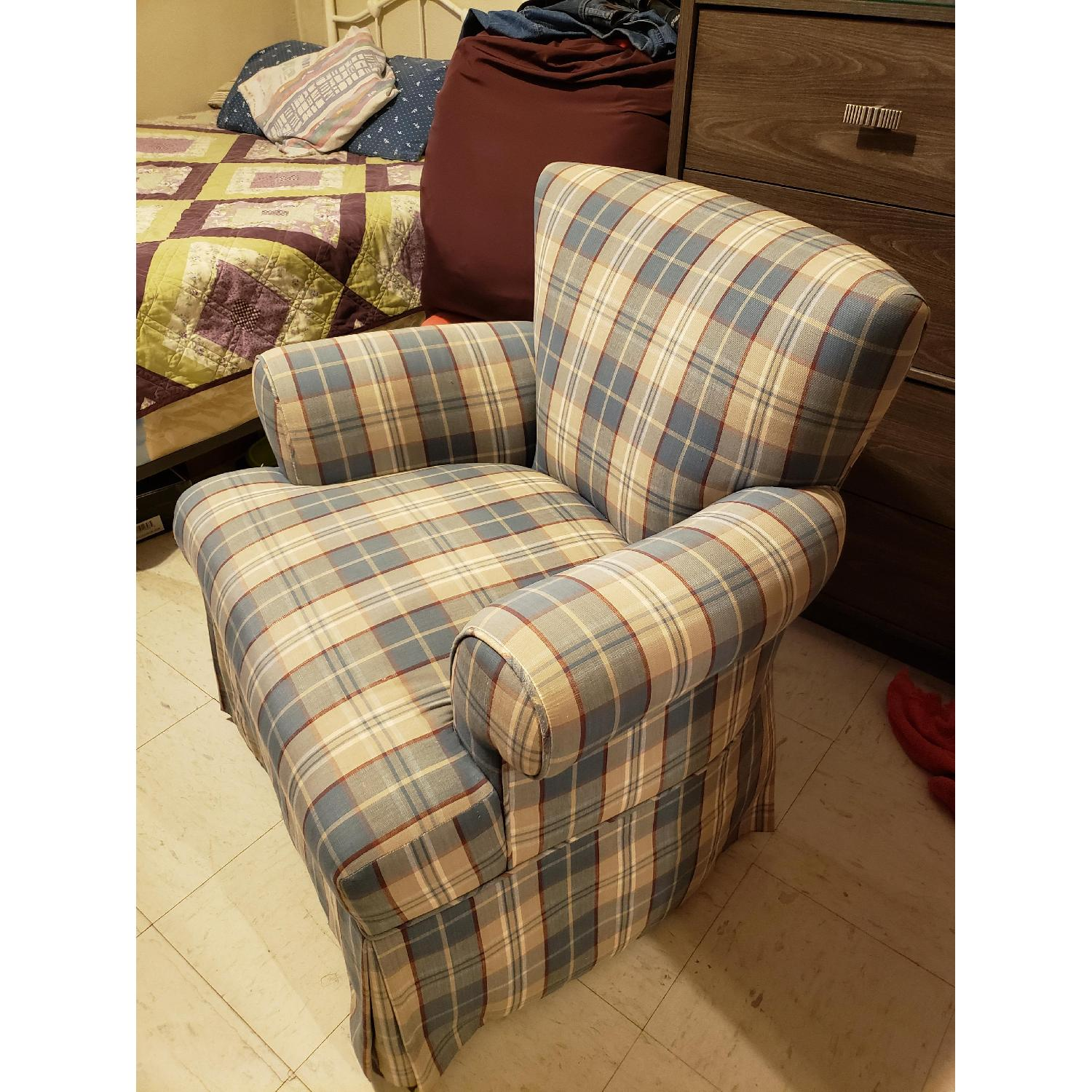 Plaid Accent Chair - image-3