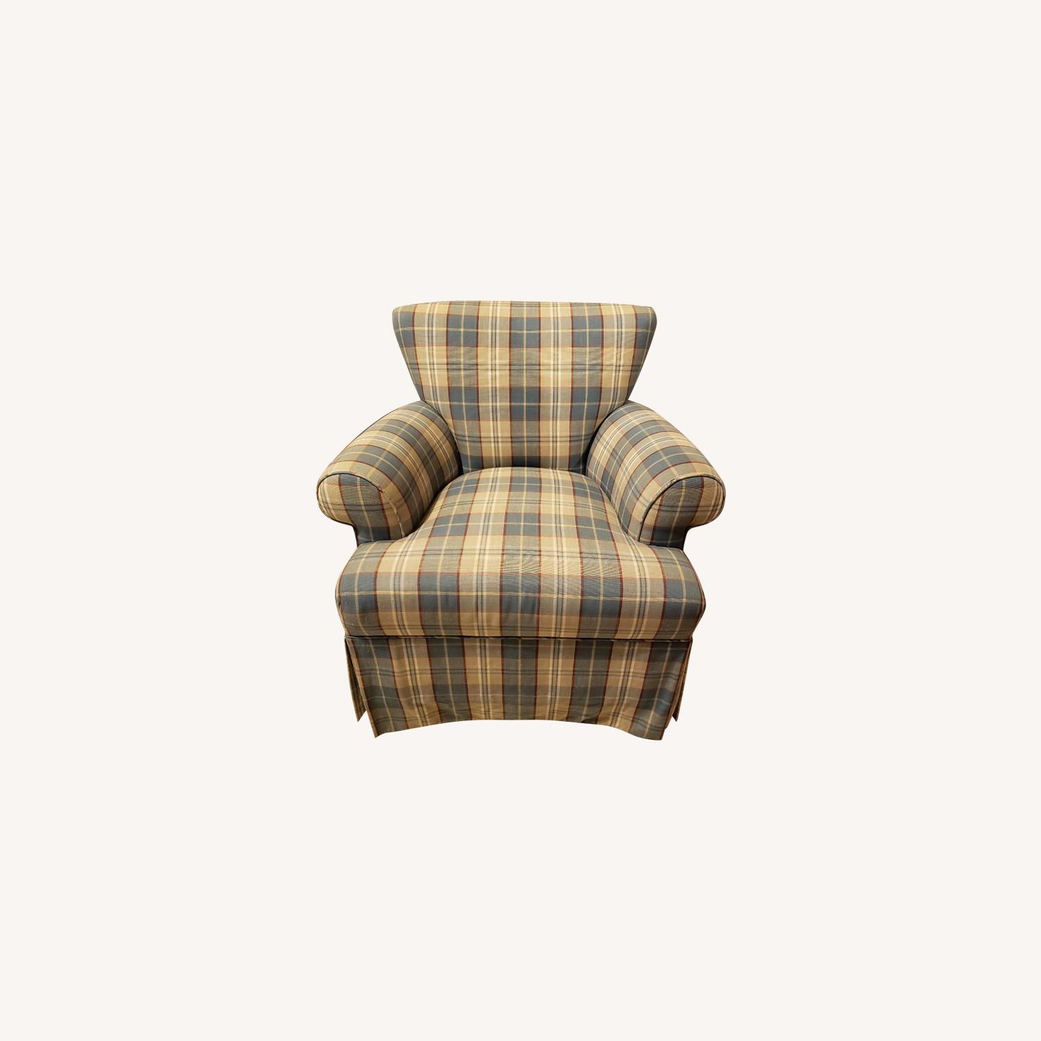 Plaid Accent Chair - image-0