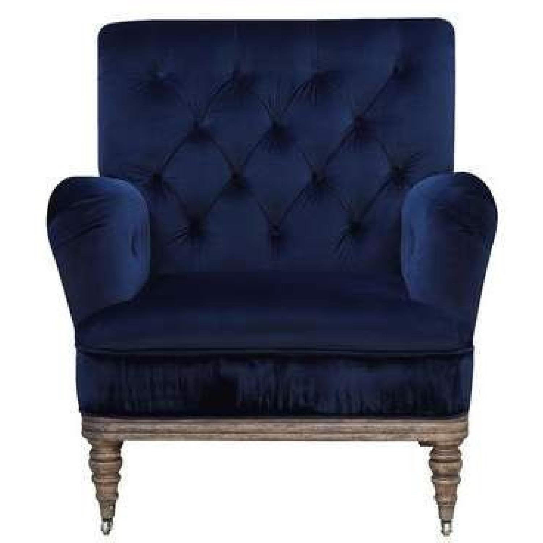 Everly Quinn Botsford Royal Blue Armchair - image-0