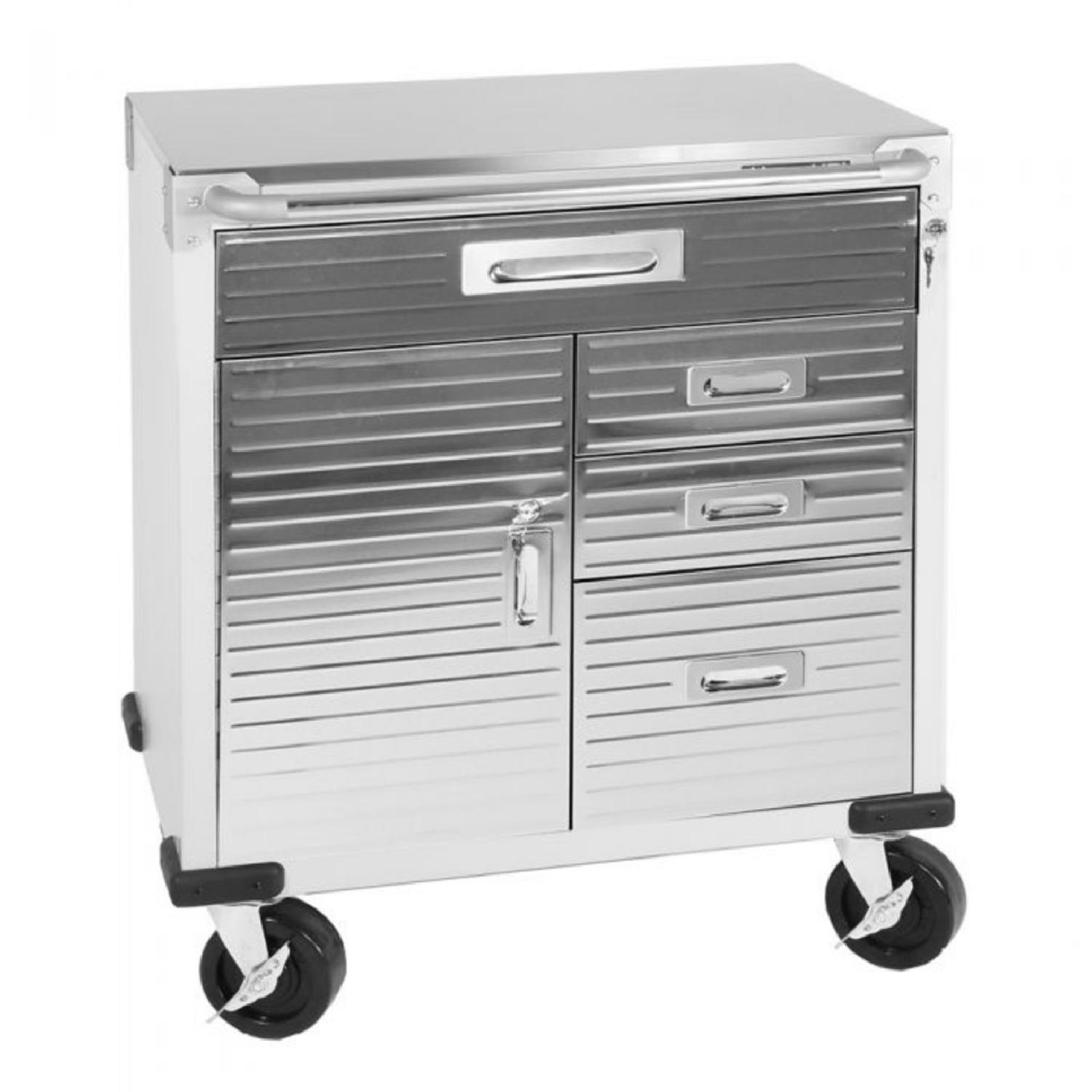 Seville Classics UltraHD 4-Drawer Rolling Storage Cabinet - image-0