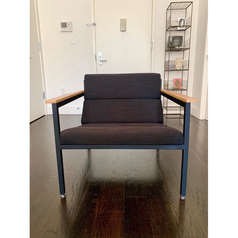 Gus Modern Halifax Chair in Laurentian Onyx & Black - image-1