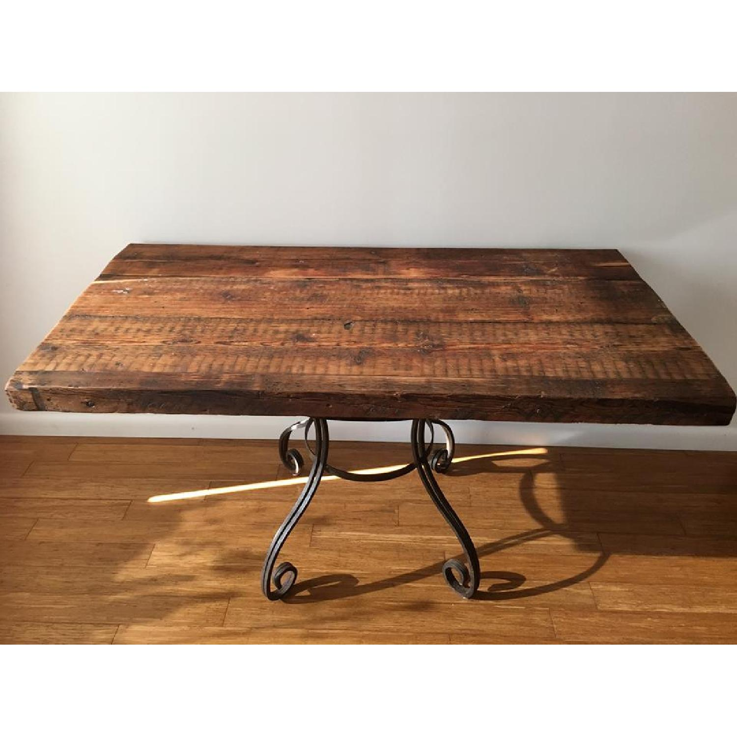 Rustic Dining Table w/ 1 Bench - image-1